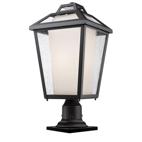 """Luminaire extérieur sur socle Memphis, Noir, 11""""x22.25"""""""