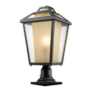 """Luminaire extérieur sur socle Memphis, Bronze, 11""""x22.25"""""""