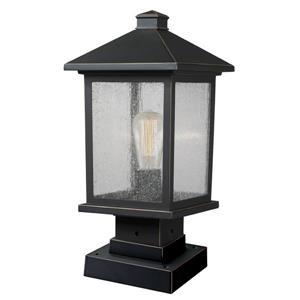 """Luminaire extérieur sur socle Portland, Bronze - 8""""x16.79"""""""