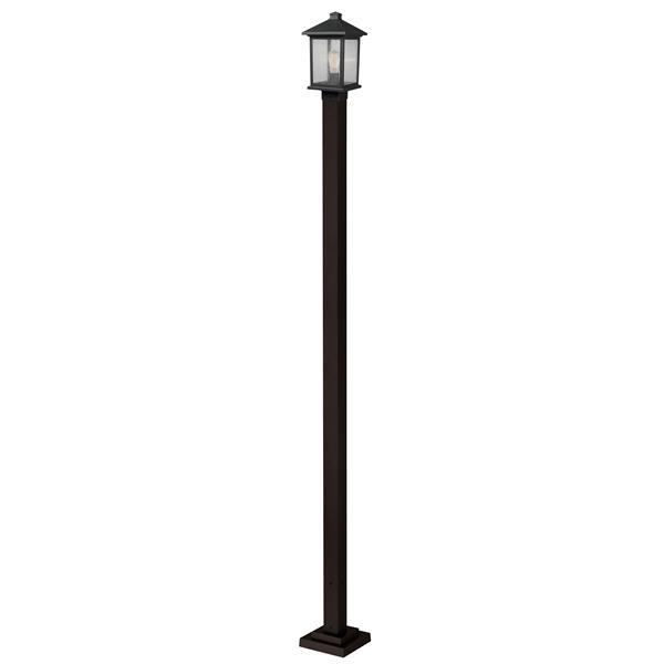 Z-Lite Portland Outdoor Post Light - Bronze - 9.25-in x 109.38-in