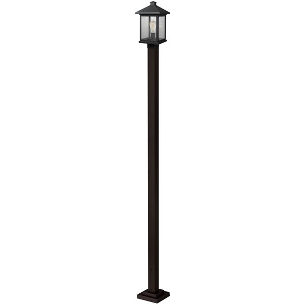 Z-Lite Portland 1 Light Outdoor Post Light - Bronze - 9.5-in x 112-in