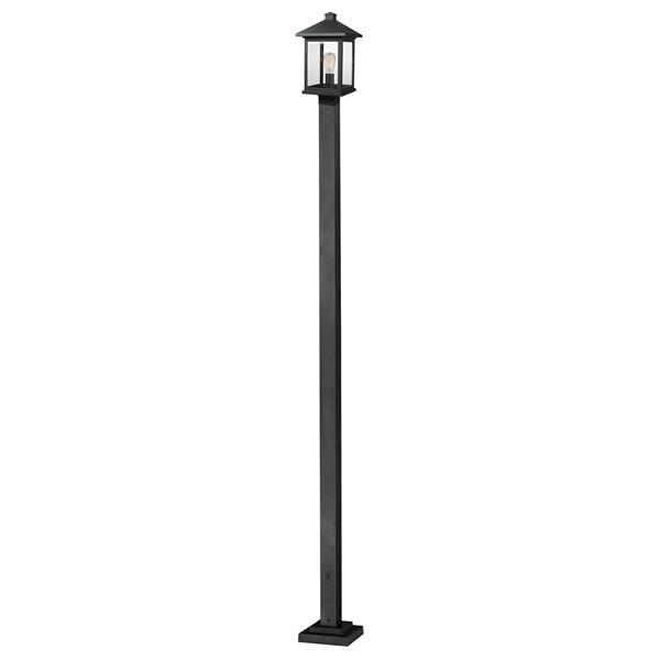 Z-Lite Portland Outdoor Post Light - Black - 9.5-in x 112-in