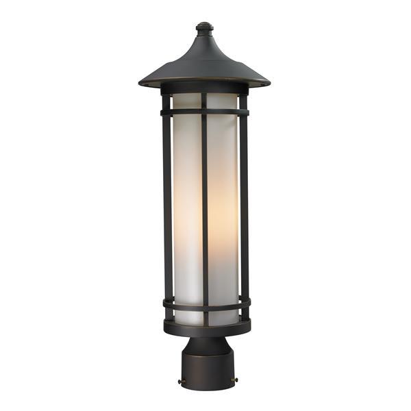 """Luminaire extérieur pour poteau, Bronze, 8.12""""x22.25"""""""