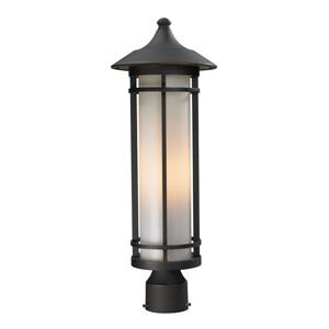 Z-Lite Woodland Outdoor Post Light - Bronze - 8.12-in x 22.25-in