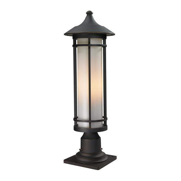 """Luminaire extérieur sur socle Woodland, Bronze, 8.12""""x24"""""""