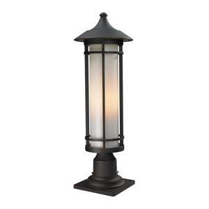 Z-Lite Woodland Outdoor Pier Mount Light - Bronze - 8.12-in x 24-in
