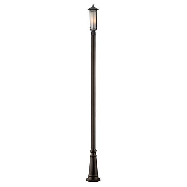 Z-Lite Woodland Outdoor Post Light - Bronze - 10-in x 116-in