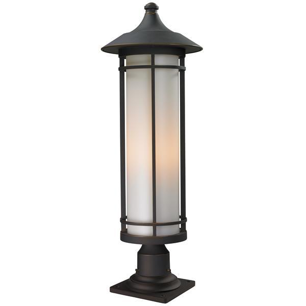 """Luminaire extérieur sur socle Woodland, Bronze, 10""""x29.75"""""""