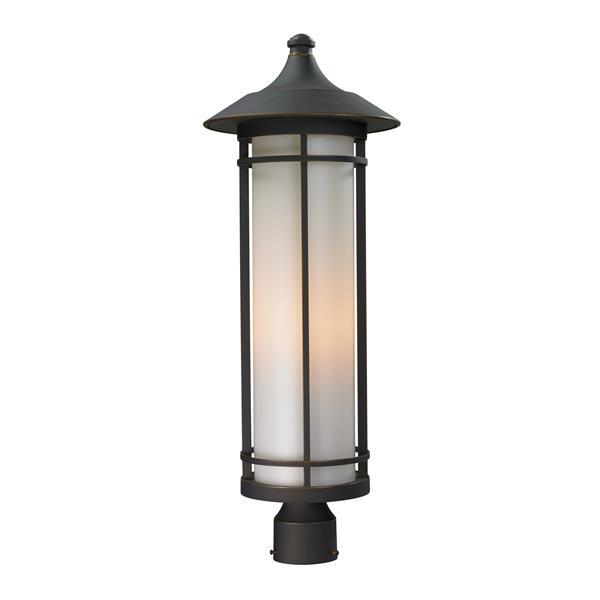 """Luminaire extérieur pour poteau Woodland, Bronze, 10""""x28"""""""