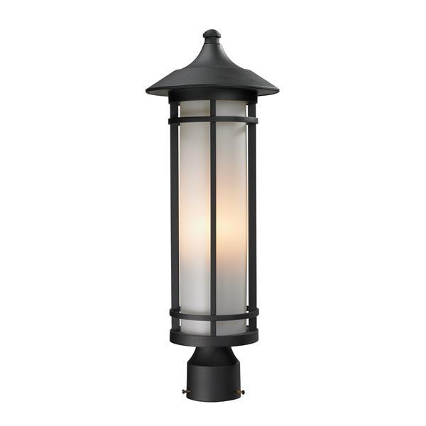 """Luminaire extérieur pour poteau Woodland, Noir, 10""""x28"""""""