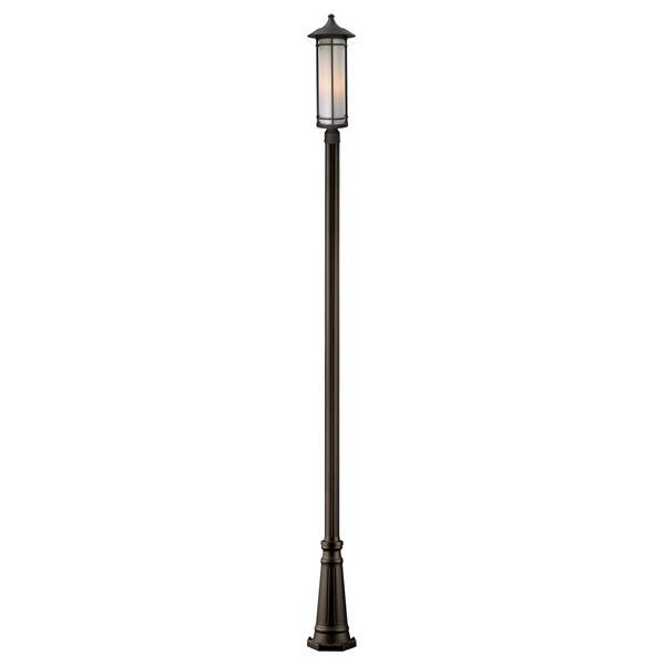 """Luminaire extérieur sur poteau, Bronze, 10""""x121.75"""""""