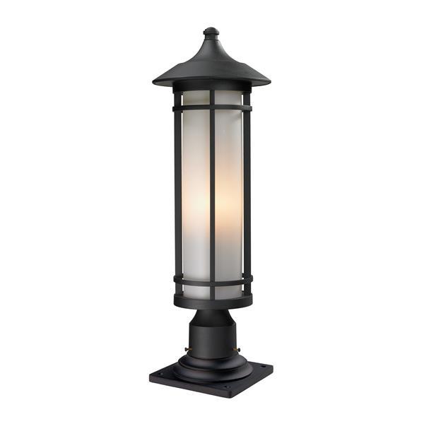 """Luminaire extérieur sur socle Woodland, Noir, 8.12""""x24"""""""