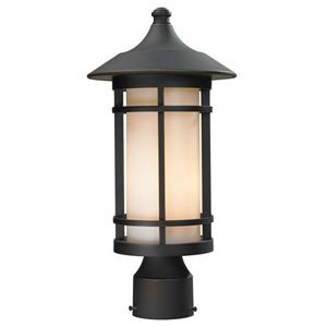 Z-Lite Woodland Outdoor Post Light - Bronze - 8.1-in x 16.62-in