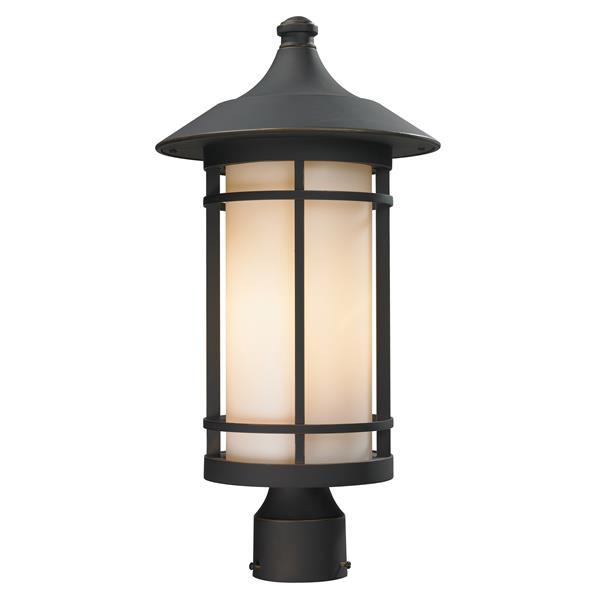 """Luminaire extérieur pour poteau Woodland, Bronze, 10""""x20.62"""""""