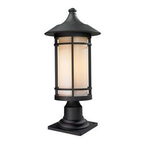 """Luminaire extérieur sur socle Woodland, Noir, 10""""x22.38"""""""