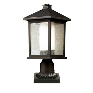 Z-Lite Mesa Outdoor Pier Mount Light - Bronze - 8.12-in x 18.5-in