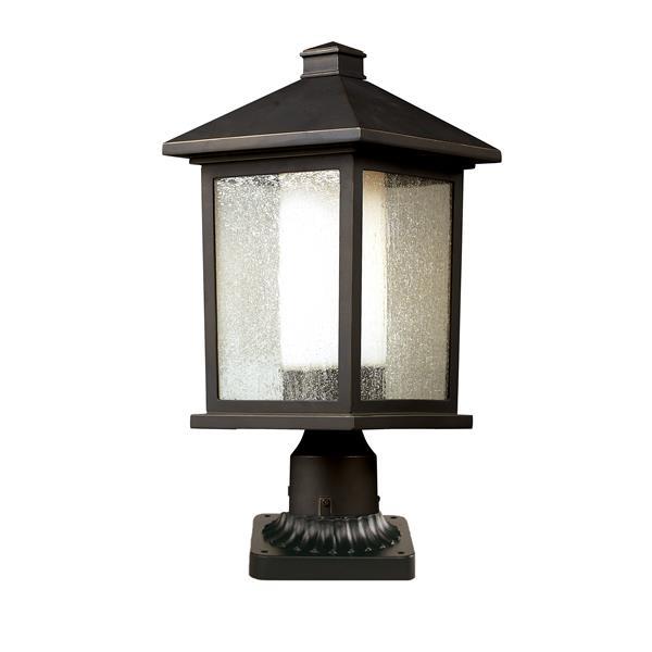 Z-Lite Mesa Outdoor Pier Mount Light - Bronze - 9.5-in x 21.5-in