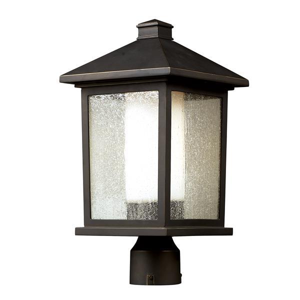 Z-Lite Mesa Outdoor Post Light - Bronze - 9.5-in x 18.5-in