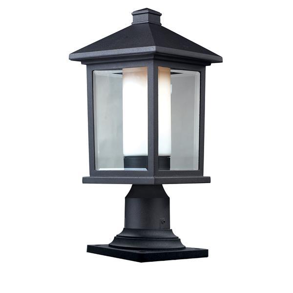 """Luminaire extérieur sur socle Mesa, Noir, 8""""x17.75"""""""