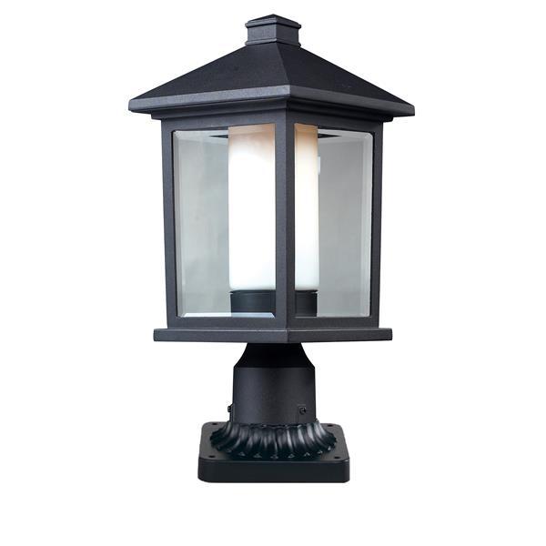 """Luminaire extérieur sur socle Mesa, Noir, 8""""x19"""""""