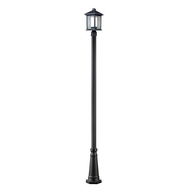 Z-Lite Mesa Outdoor Post Light - Black - 10-in x 109.25-in