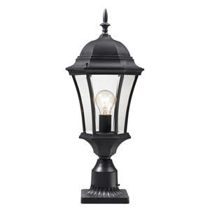 Z-Lite Wakefield Outdoor Post Light - Black - 9.5-in x 24-in