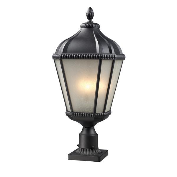 Z-Lite Waverly Outdoor Post Light - Black - 11-in x 27.25-in