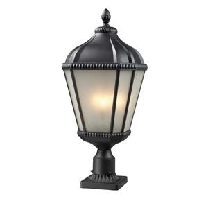 Z-Lite Waverly Outdoor Post Light - Black - 11-in x 27.25-in