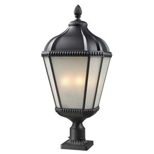 Z-Lite Waverly Outdoor Post Light - Black - 13-in x 29.75-in