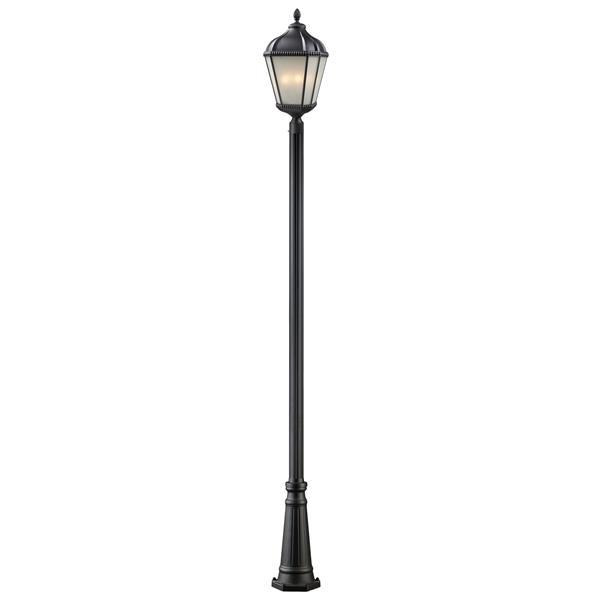 Z-Lite Waverly 3 Light Outdoor Post Light - Black - 13-in x 121.75-in