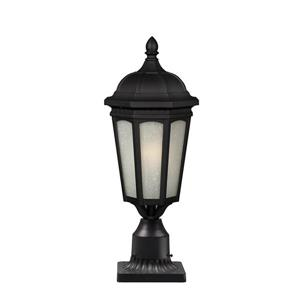 Z-Lite Newport Outdoor Post Light - Black - 8.25-in x 21.65-in
