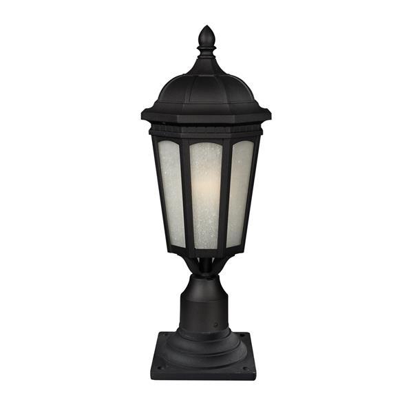 Z-Lite Newport Outdoor Post Light - Black - 8.25-in x 21.65-in