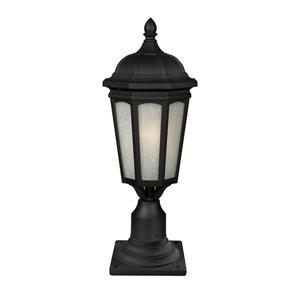 Z-Lite Newport Outdoor Post Mount Light - Black -10.38-in x 26-in
