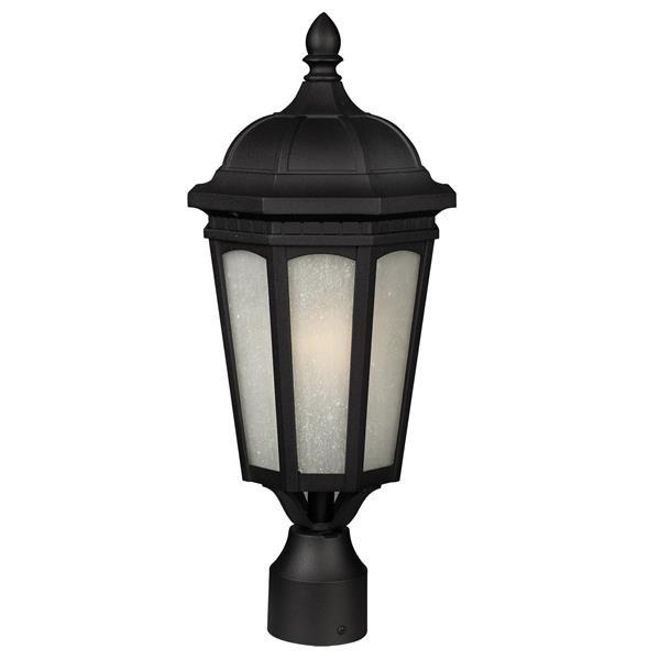 Z-Lite Newport Outdoor Post Mount Light - Black - 10.38-in x 24-in
