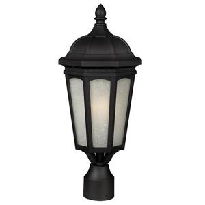 Z-Lite Newport Outdoor Post Mount Light - Black - 10.38-in x 24-in