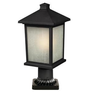 Z-Lite Holbrook Outdoor Post Light - Black - 8-in x 17.75-in