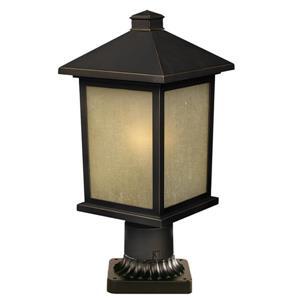 """Luminaire extérieur sur socle Holbrook, Bronze, 8""""x17.75"""""""