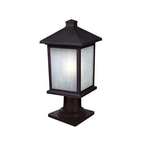 Z-Lite Holbrook Outdoor Post Light - Black - 8-in x 17.75-in