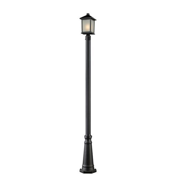 Z-Lite Holbrook Outdoor Post Light - Black - 10-in x 109.75-in