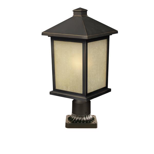 Z-Lite Holbrook Outdoor Post Mount Light - Bronze - 9.25-in x 22-in