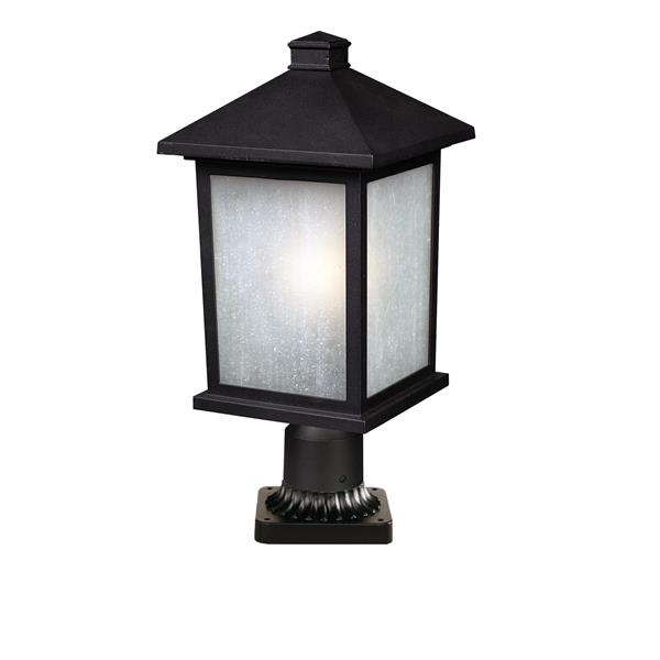 Z-Lite Holbrook Outdoor Post Mount Light - Black - 9.25-in x 22-in