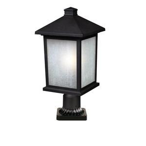 """Luminaire extérieur sur socle Holbrook, Noir, 9.25""""x22"""""""