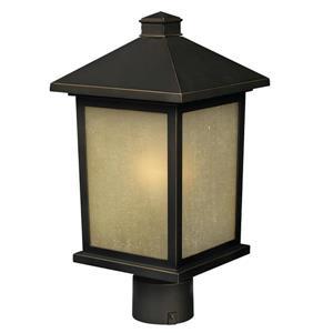 Z-Lite Holbrook Outdoor Post Light - Bronze - 9.5-in x 18.5-in
