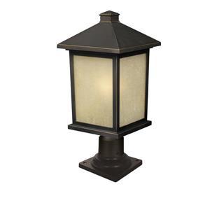 Z-Lite Holbrook Outdoor Post Mount Light - Bronze - 9.5-in x 20.25-in