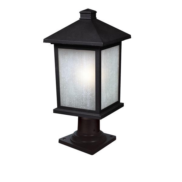 Z-Lite Holbrook Outdoor Post Mount Light - Black - 9.5-in x 20.25-in