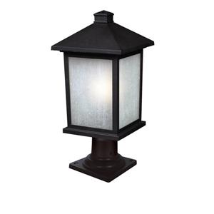 Z-Lite Holbrook Outdoor Post Mount Light - Black - 9.5-in x 20.25-in