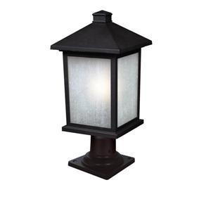 """Luminaire extérieur sur socle Holbrook, Noir, 9.5""""x20.25"""""""