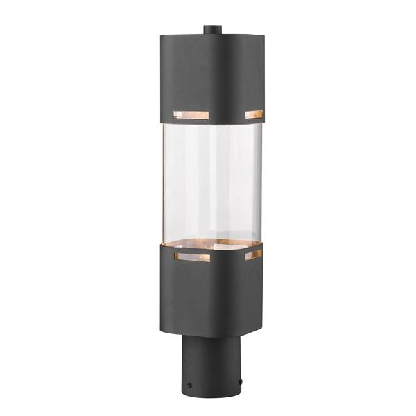 Z-Lite Lestat 1 Light Outdoor Post Head - Black - 5-in x 19.62-in