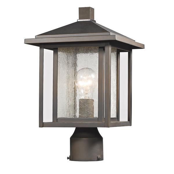 """Luminaire extérieur pour poteau Aspen, Bronze, 9""""x14.75"""""""