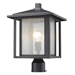 """Luminaire extérieur pour poteau Aspen, Noir, 11""""x16.25"""""""